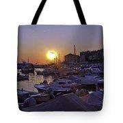 Sunsetting Over Rovinj 1 Tote Bag