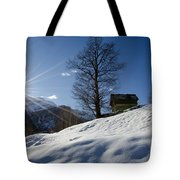 Sunshine Over The Snow Tote Bag