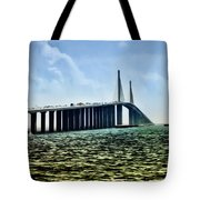 Sunshine Skyway Bridge - Tampa Bay Tote Bag