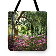 Sunshine Through Savannah Park Trees Tote Bag