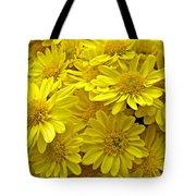 Sunshine Yellow Chrysanthemums Tote Bag