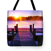 Sunup Over Rock Creek Tote Bag