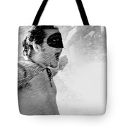 Superboy Of Peachtree Black And White Tote Bag