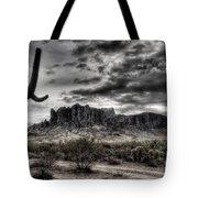 Superstition Saguaro  Tote Bag