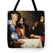 Supper At Emmaus Tote Bag by Bernardo Strozzi