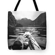 Supplies On The End Of A Kayak Going Tote Bag