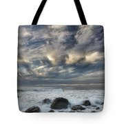 Surf At Gillespies Beach Near Fox Tote Bag