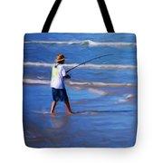 Surf Casting Tote Bag by David Lane
