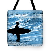 Surfer Silhouette Tote Bag
