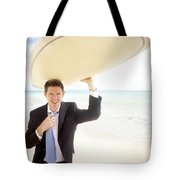 Surfing Businessman Tote Bag