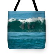 Surfing Dolphins 2 Tote Bag