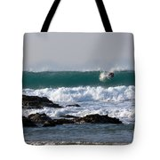 Surfing In Cornwall Tote Bag by Brian Roscorla