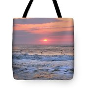 Surfing Pelicans Tote Bag