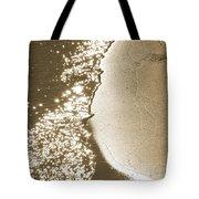 Surfs Edge In Sepia Tote Bag