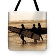 Surfs Up Sephia Tote Bag