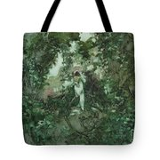 Surprised Bather Tote Bag by Elizabeth Carr
