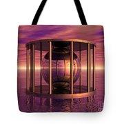 Metal Cage Floating In Water Tote Bag