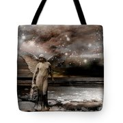 Surreal Fantasy Celestial Angel With Stars Tote Bag