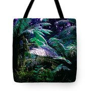 Surreal Tropical Forest Drawing Illustrated Scene Tote Bag