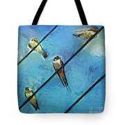 Swallows Goes To South Tote Bag