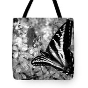 Swallowtail Butterfly And Plum Blossoms Tote Bag