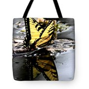 Swallowtail In Water Tote Bag