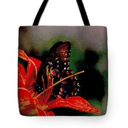 Swallowtail On Orange Tote Bag