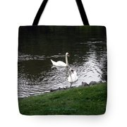 Swan Couple Tote Bag