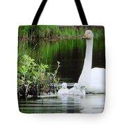 Swan Family Late Summer Tote Bag