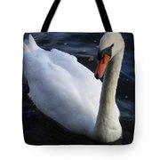 Swan Flying In The Water  Denmark Tote Bag