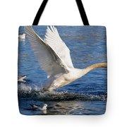 Swan Take Off Tote Bag