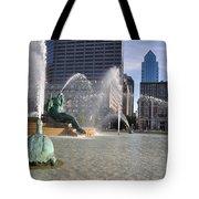 Swann Memorial Fountain In Philadelphia Tote Bag