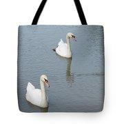Swans Drifting Along Tote Bag