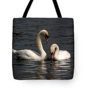 Swans Swimming Tote Bag