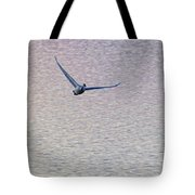 Swans Taking Off From Tagish River Tote Bag