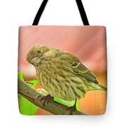 Sweet Finch Painted Effect Tote Bag