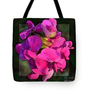 Sweet Pea Pop Out Photoart Square Tote Bag