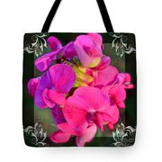 Sweet Pea Pop Out Square Tote Bag