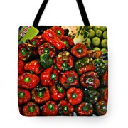 Sweet Red Peppers Tote Bag