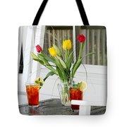 Sweet Tea And Tulips Tote Bag