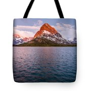 Swiftcurrent Lake At Dawn Tote Bag