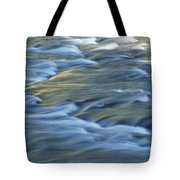 Swiftly Rushing Water In A Stream Tote Bag