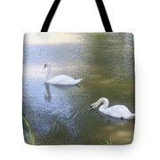 Swimming Swans Tote Bag