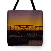Swing Bridge Sunset Tote Bag