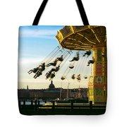 Swings At Sunset Tote Bag