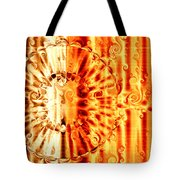Swirly Embossed Gold Tote Bag