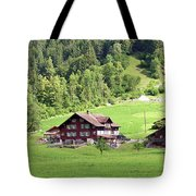 Swiss Village In The Alps Tote Bag