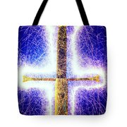 Sword With Sparks Tote Bag