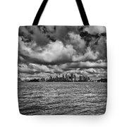 Sydney-black And White Tote Bag