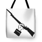 Symbol: Raised Gun Tote Bag